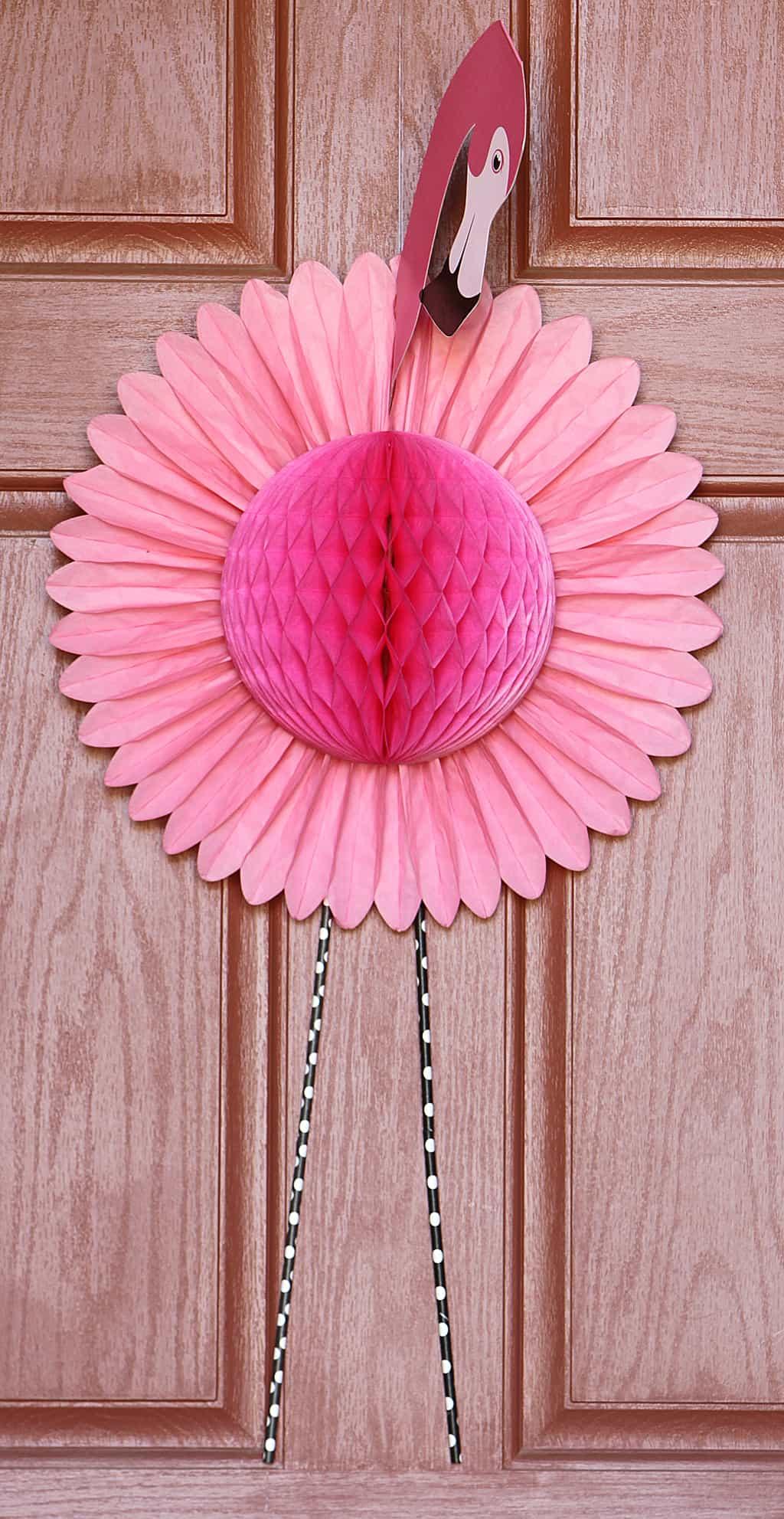 Flamingo door wreath