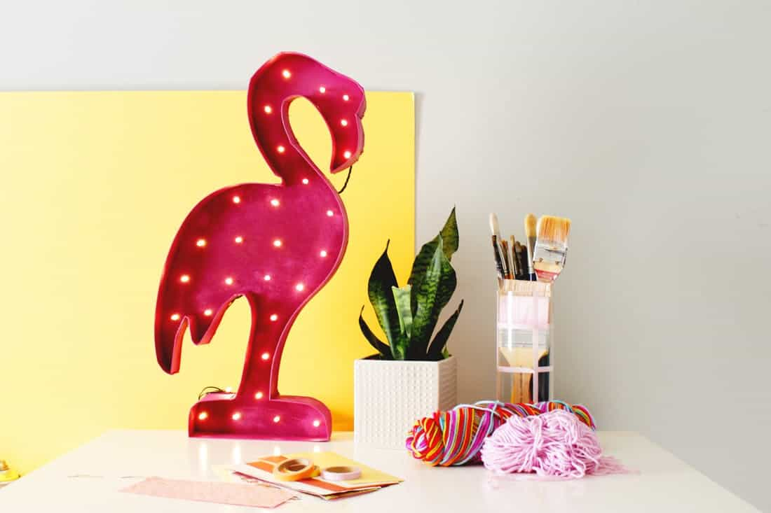 Flamingo marquee light