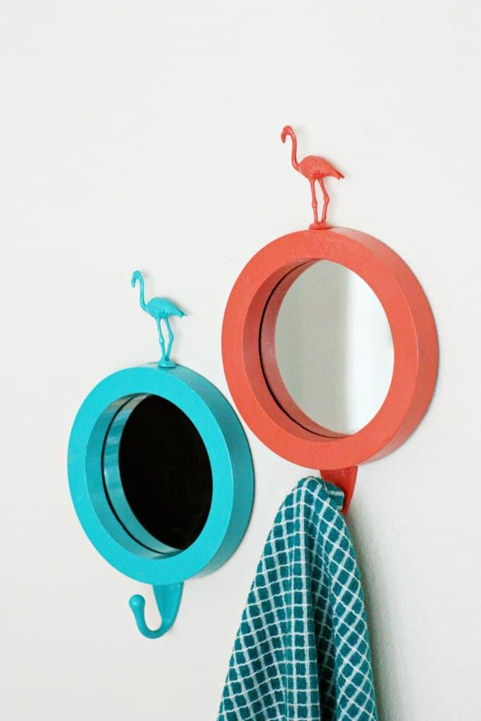 Flamingo mirrors