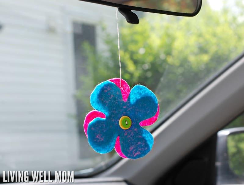 Flower car freshener