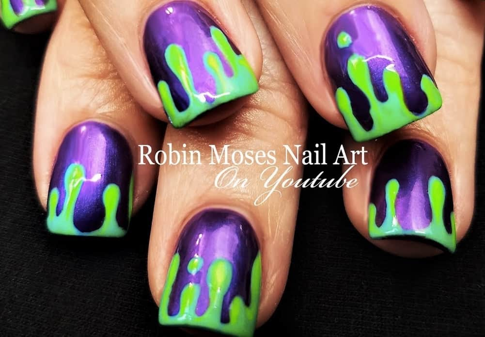 Halloween neon nails