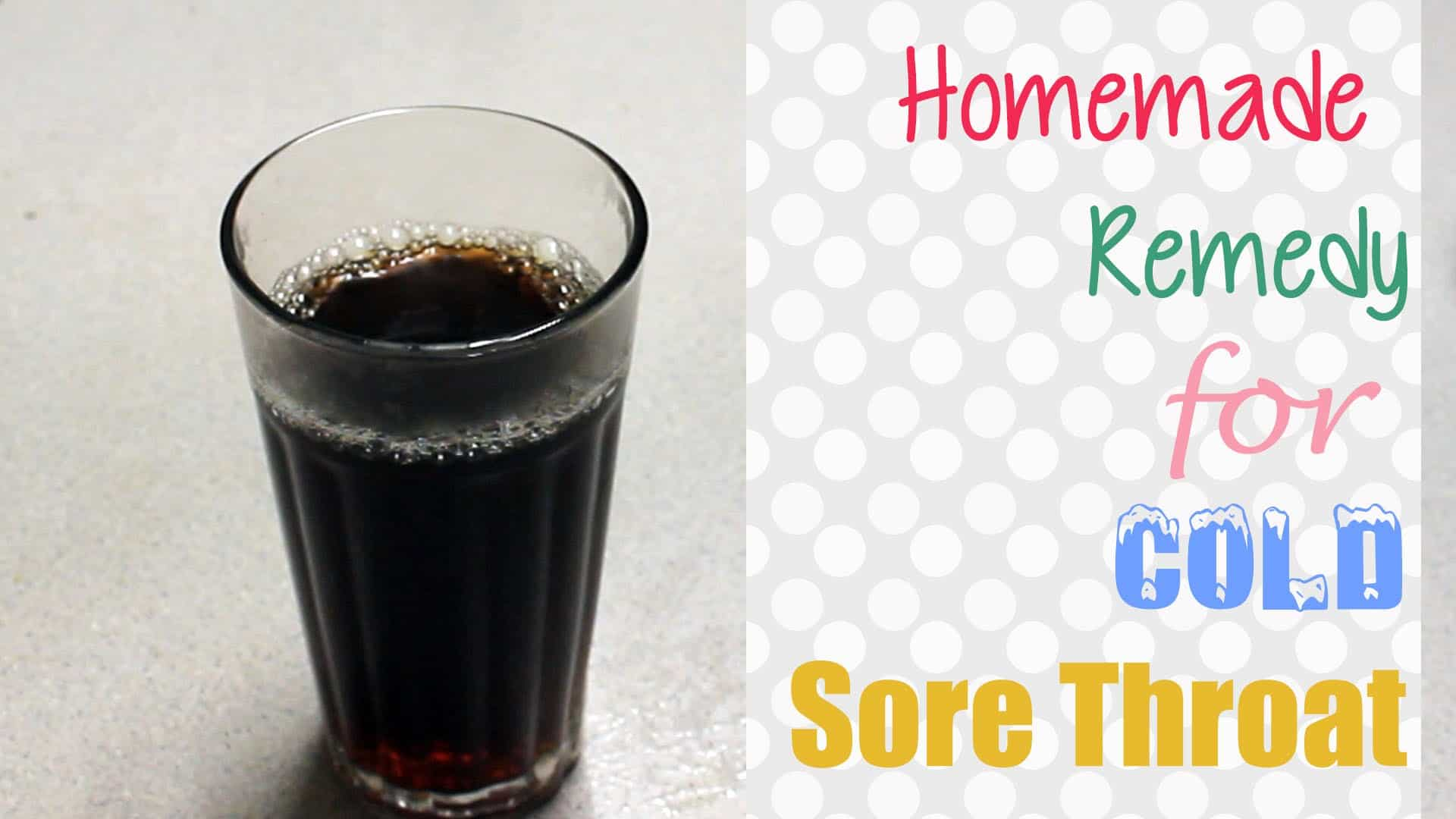 Homemade cold sore throat remedy