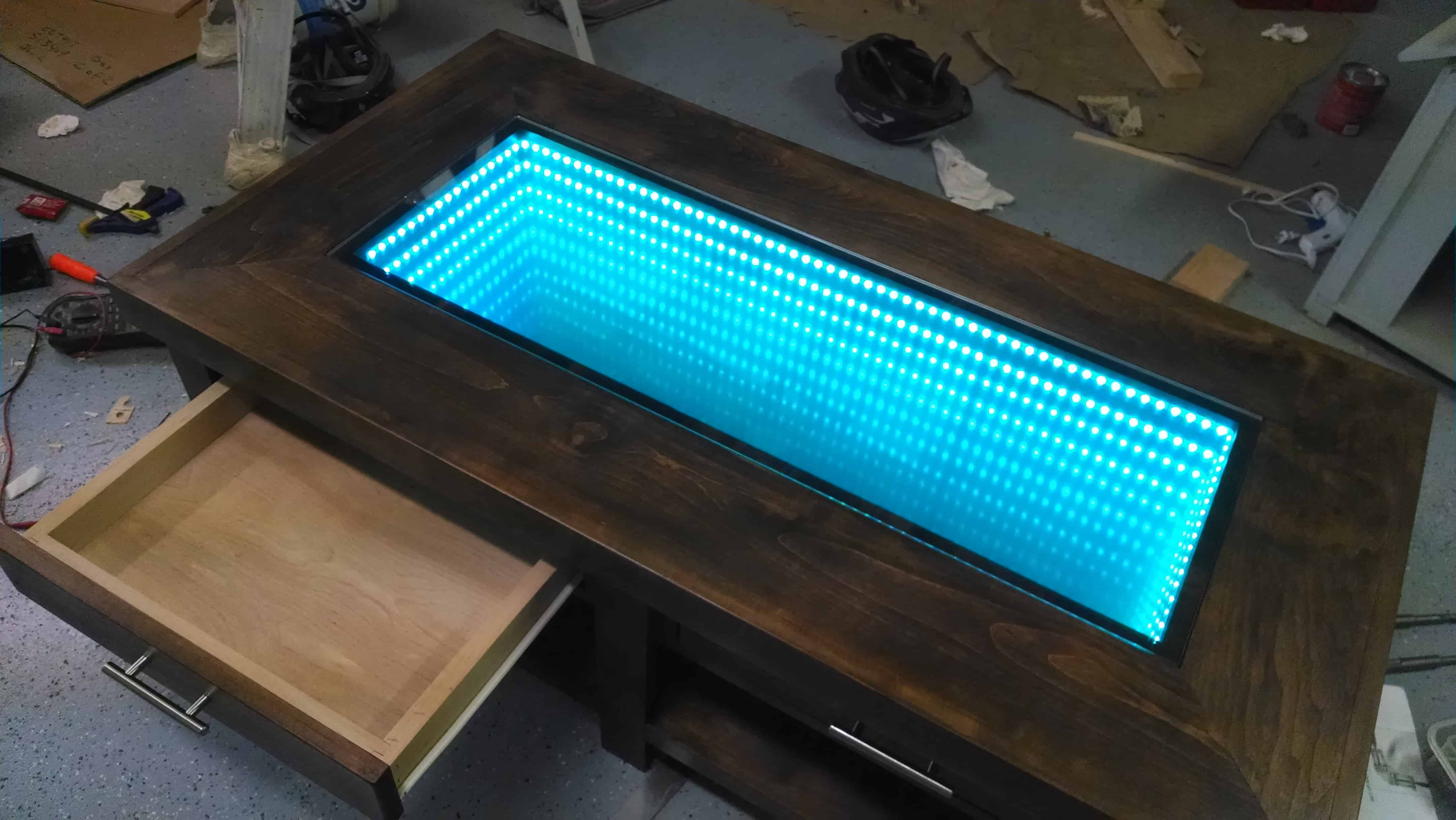 Infinity coffee table with drawers