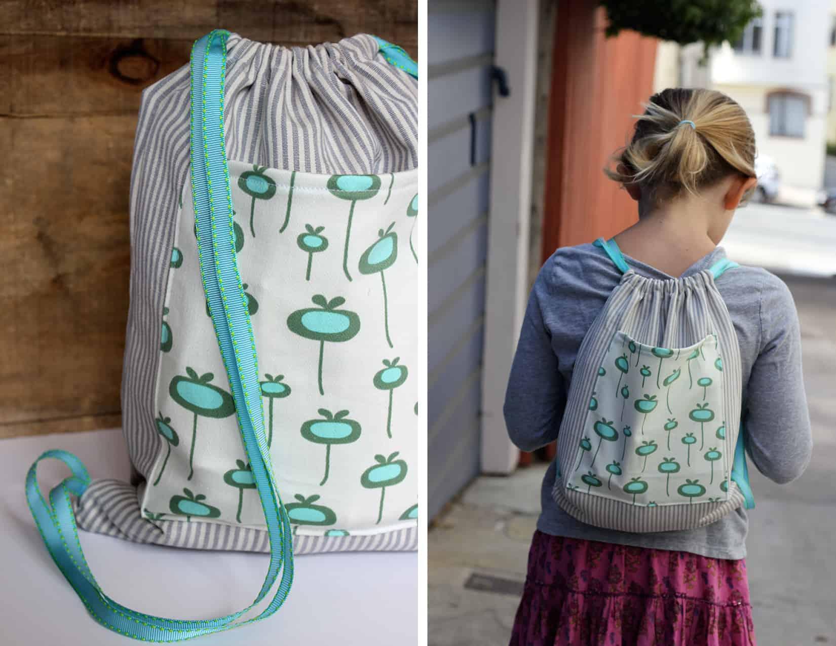 Kid's drawstring backpack