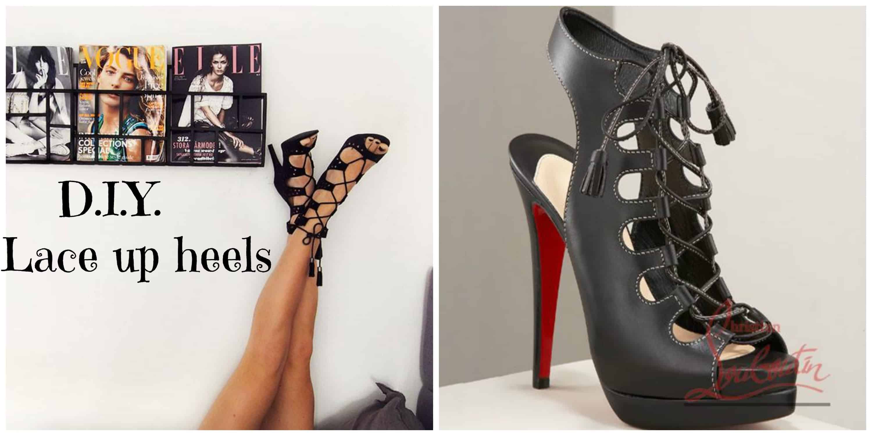 Lace-up Louboutin knock offs from heeled boots