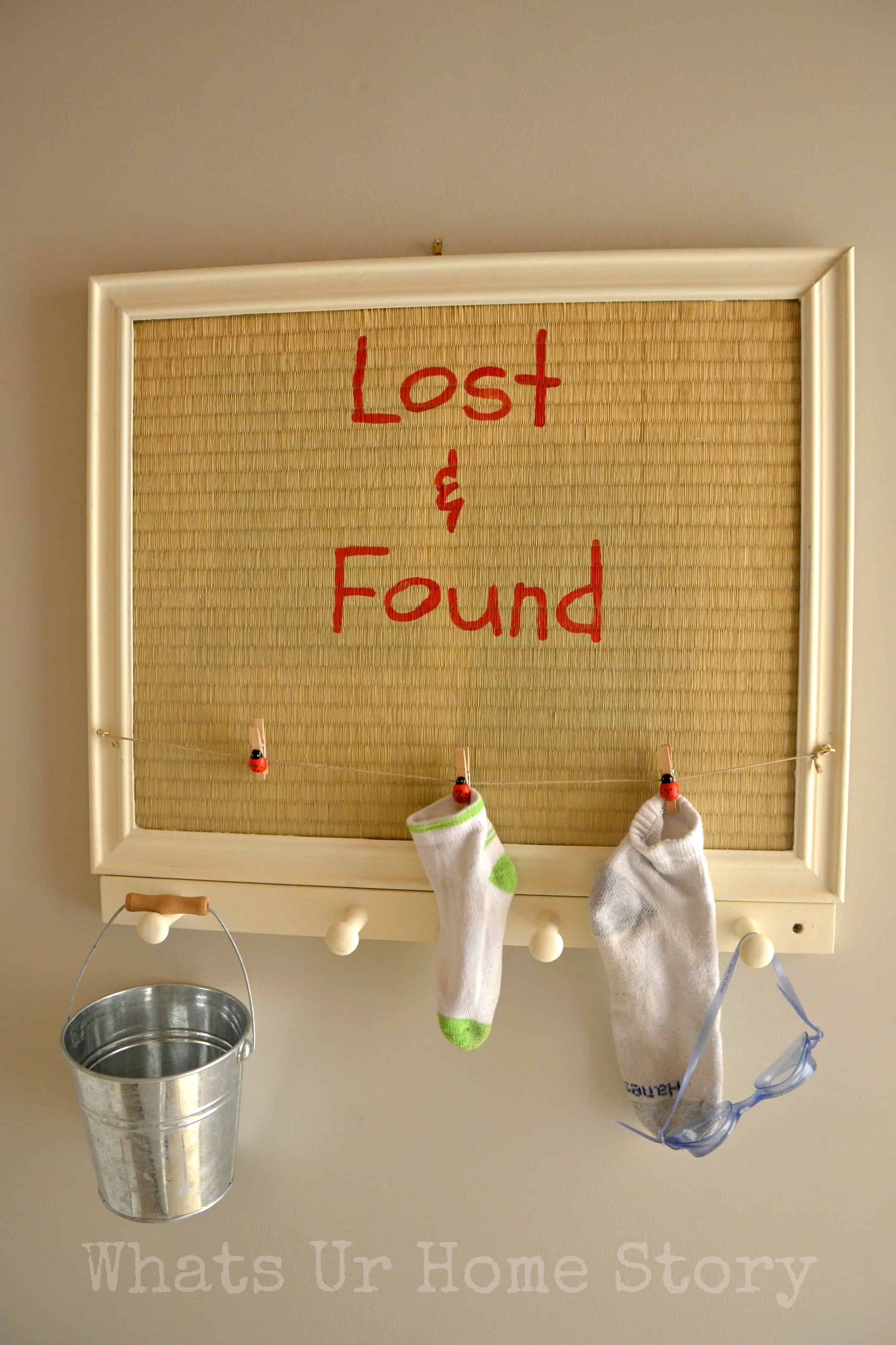 Laundry room lost and found