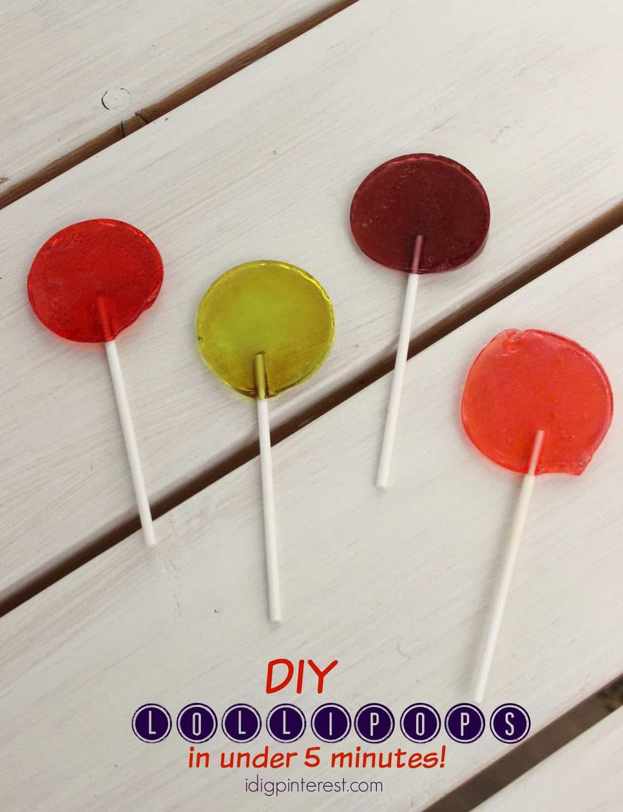 Lollipops in less than 5 minutes