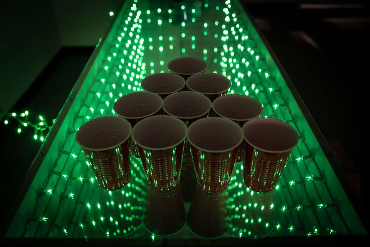 Long infinity mirror games table