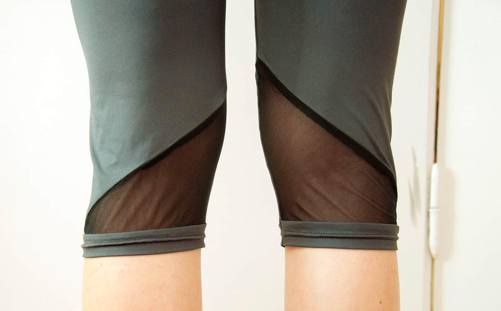 Mesh panel workout pants