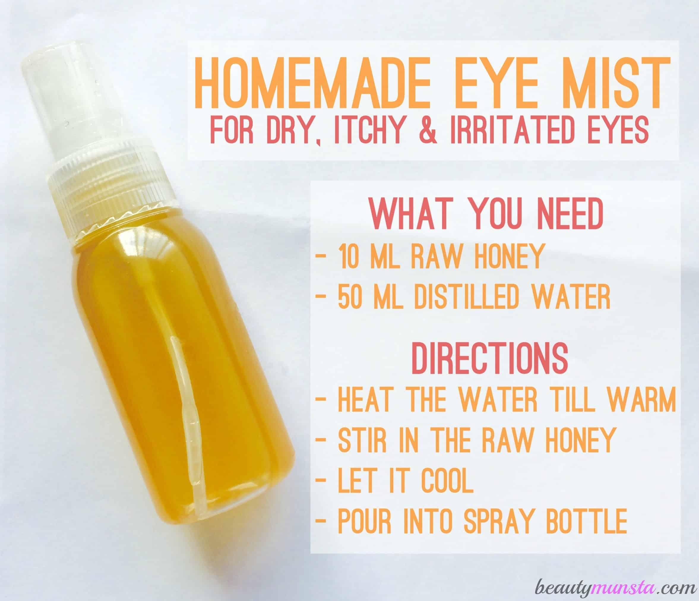 Mild homemade eye mist