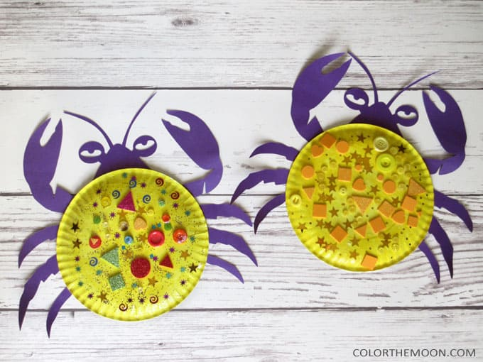 Moana paper plate crabs