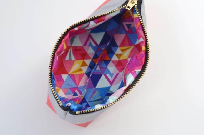 Neon pencil pouch