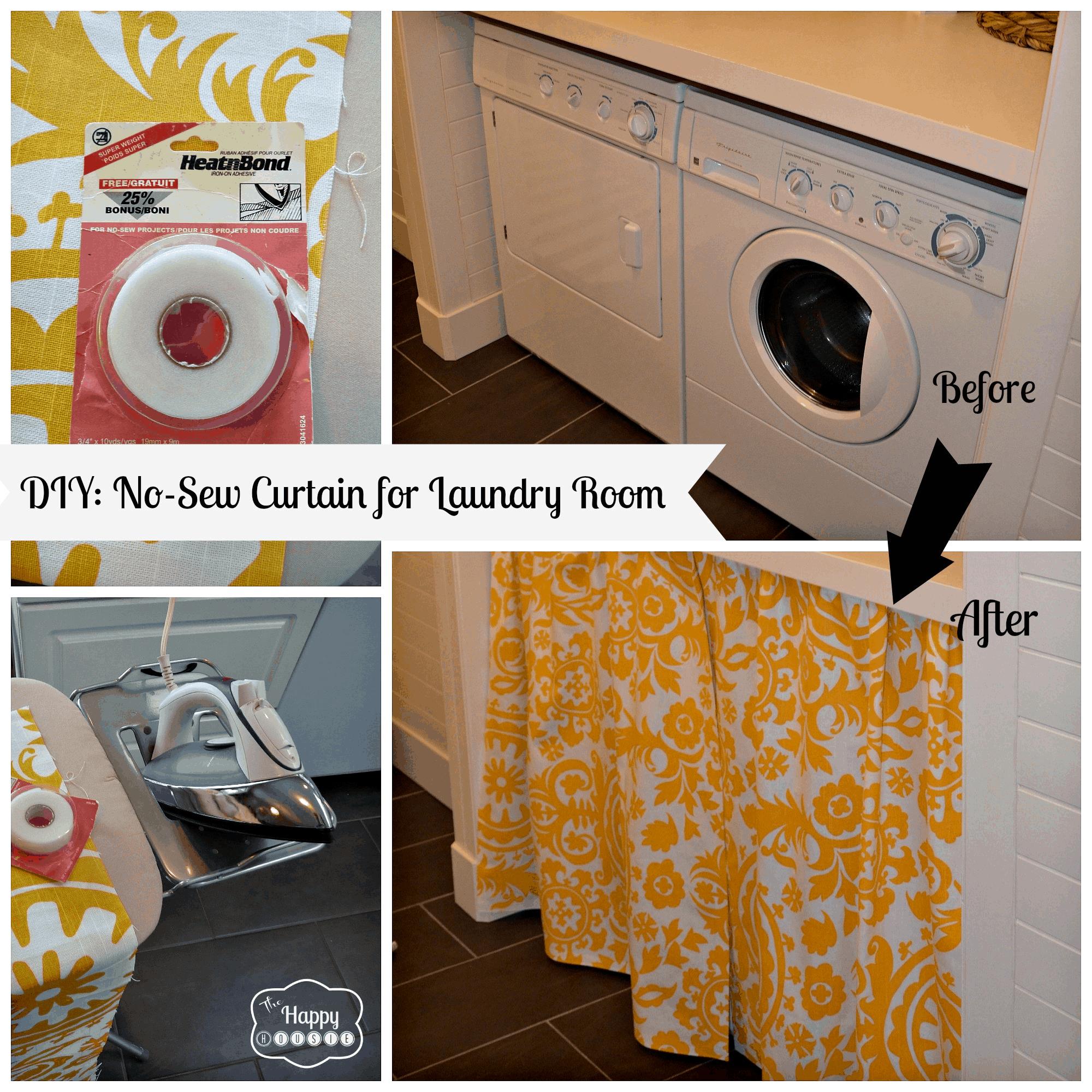 No-sew laundry room curtain