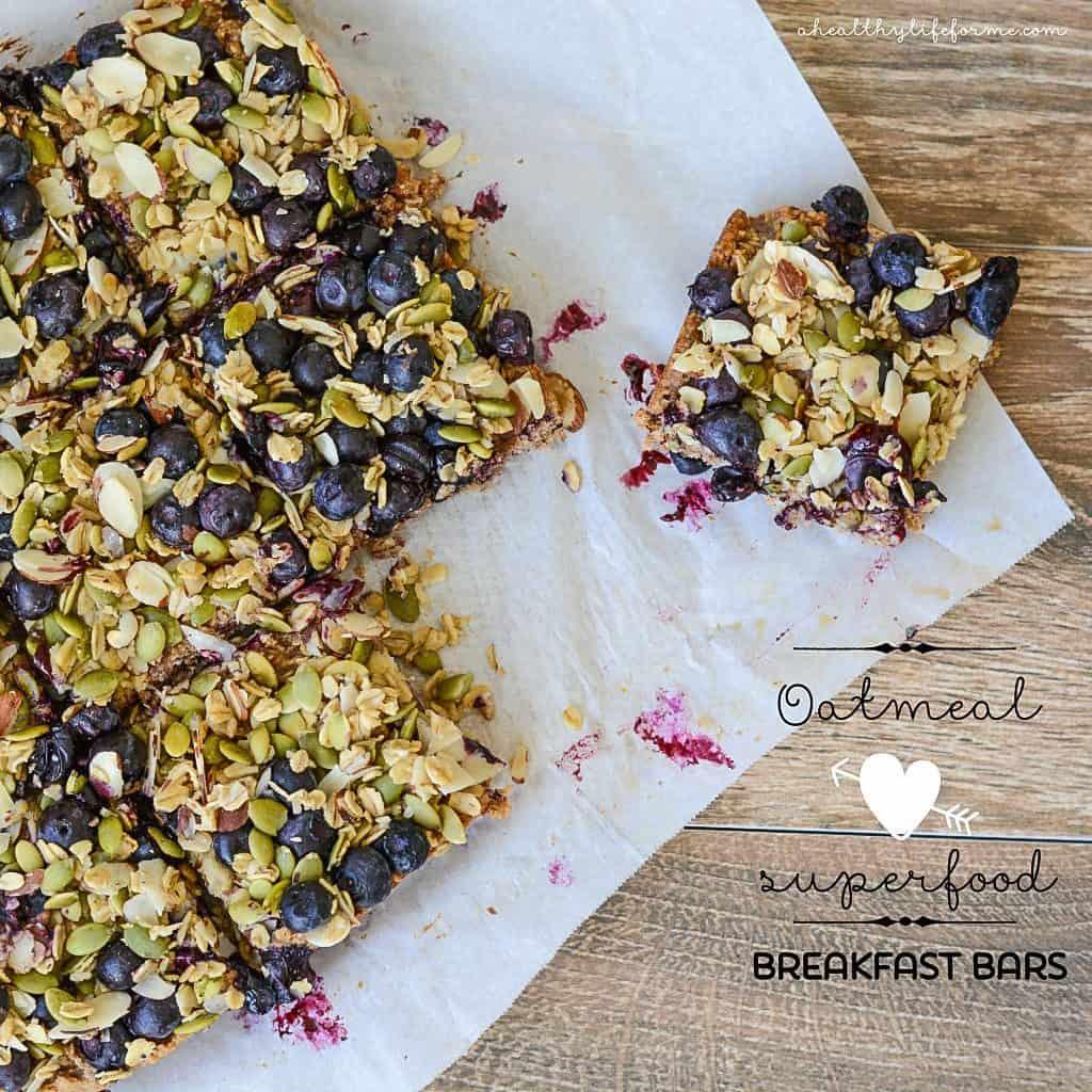 Oatmeal superfood energy bars