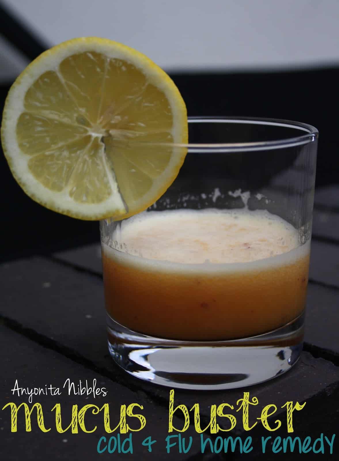 Orange, lemon, and honey mucus buster