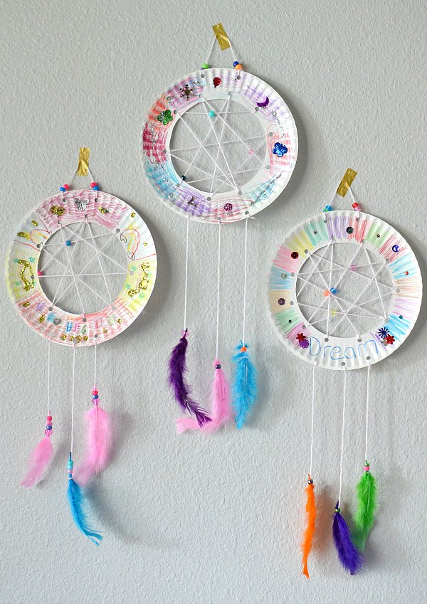 Paper Plate Dream Catchers & Paper Plate Crafts: A Fun and Creative Activity for Kids