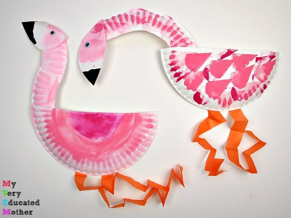 Paper Plate Flamingos & Paper Plate Crafts: A Fun and Creative Activity for Kids