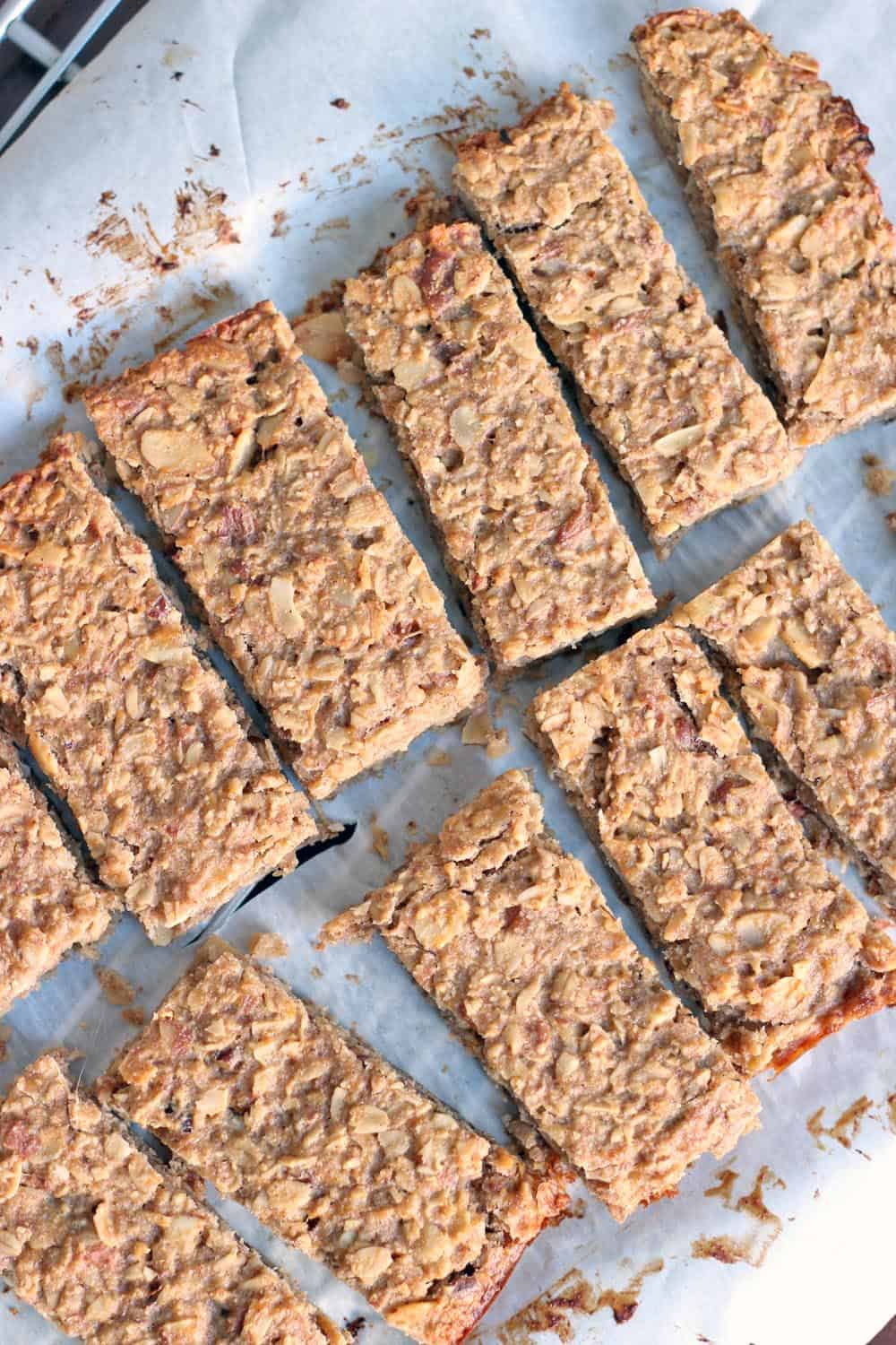 Peanut butter and banana energy bars
