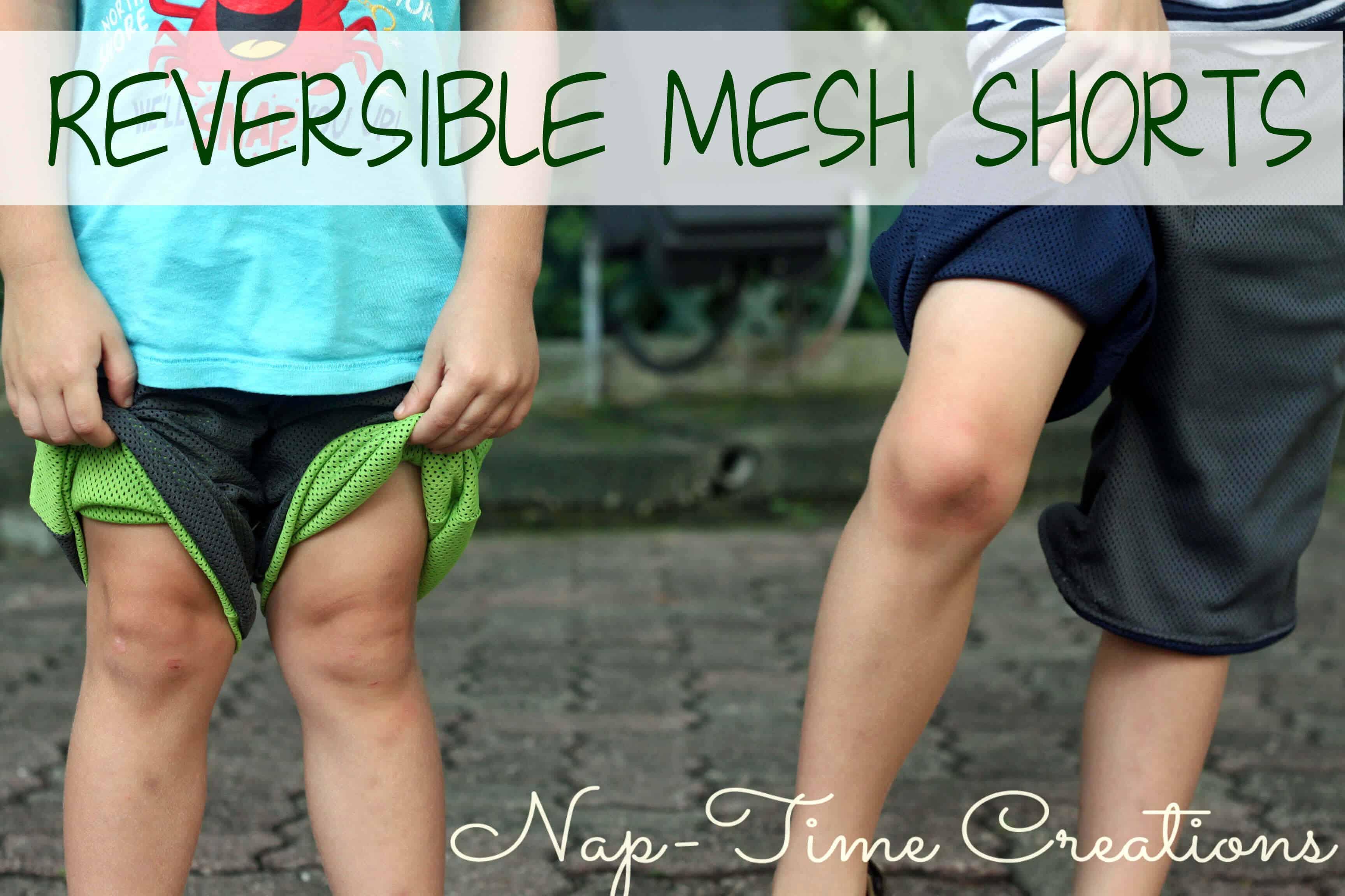 Reversbile mesh shorts