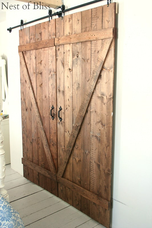 Genial 5. Rustic Wooden Barn Door