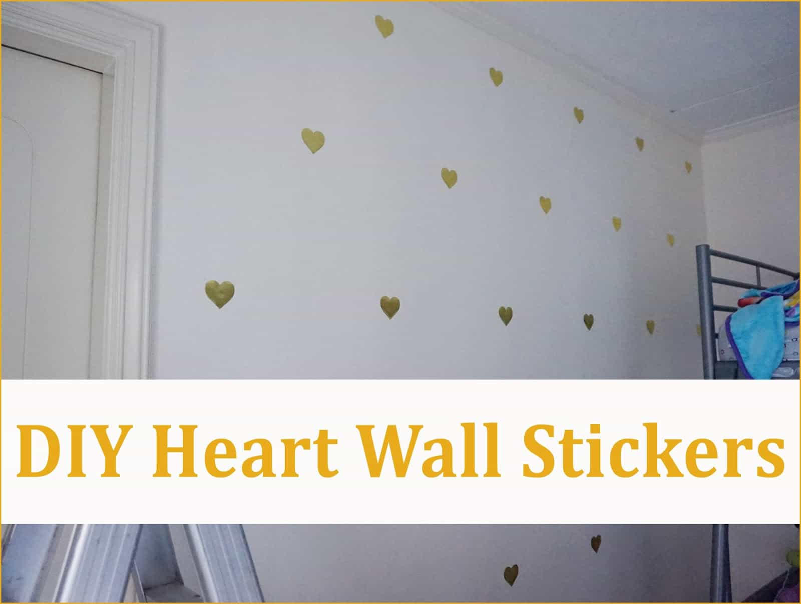 Simple heart wall stickers