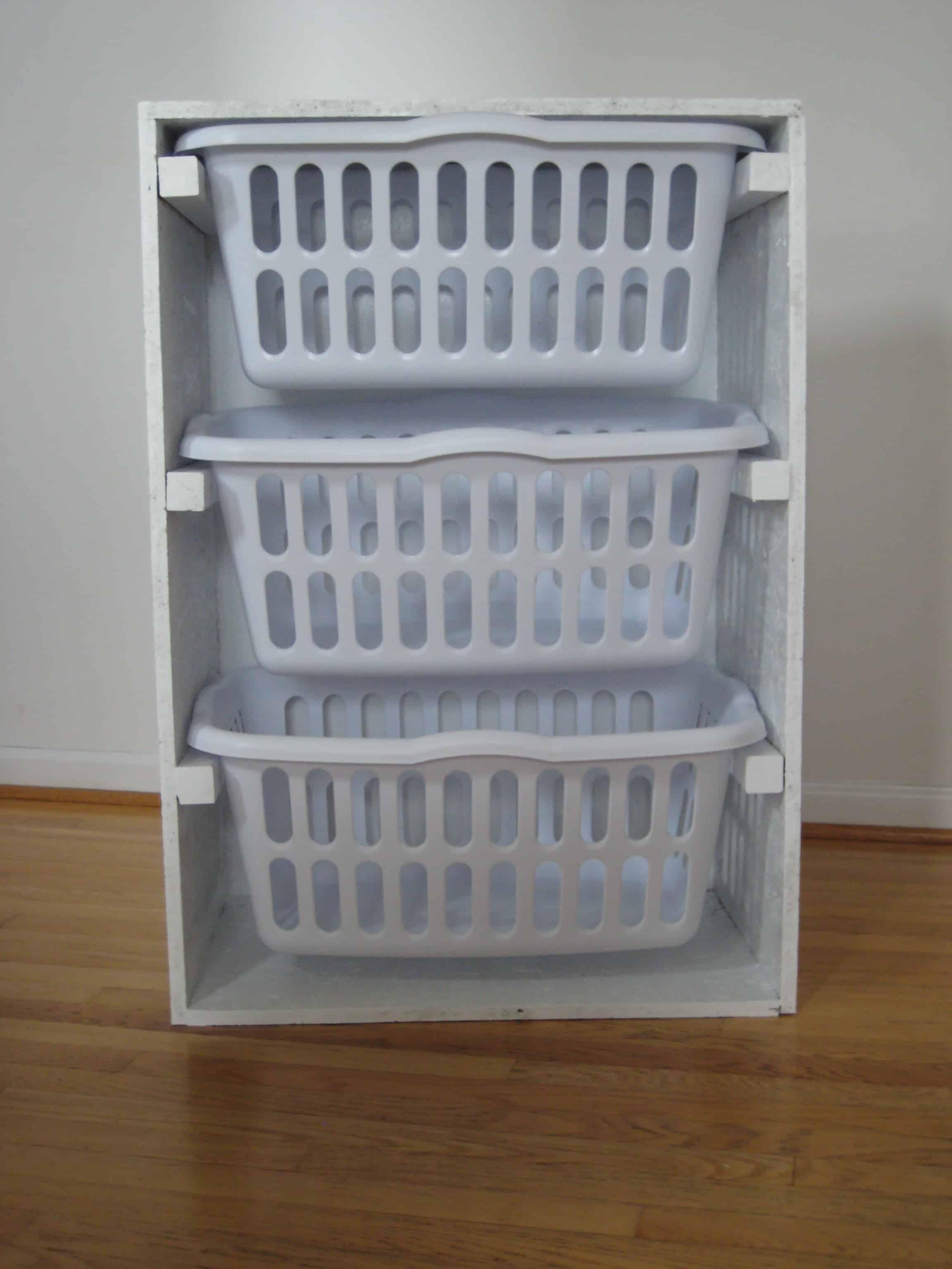 Stacking laundry basket drawers