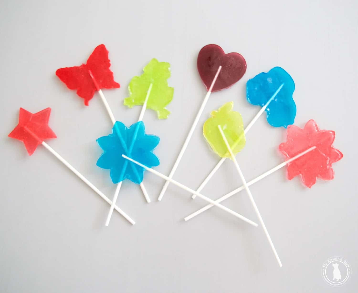 Star and heart shaped lollipops