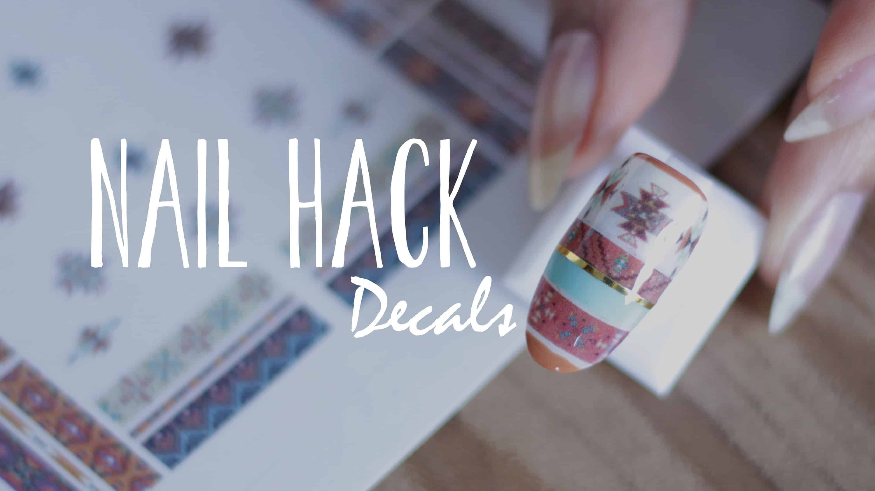 Sticker nail decals