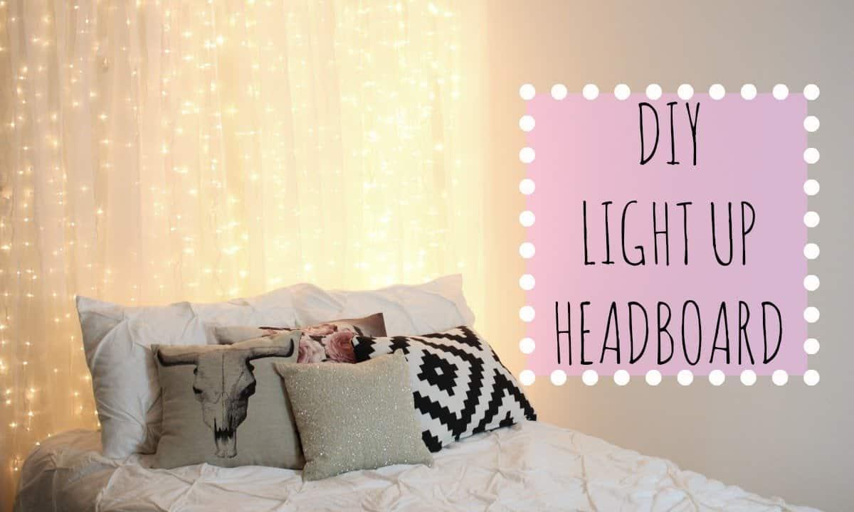 String light headboard