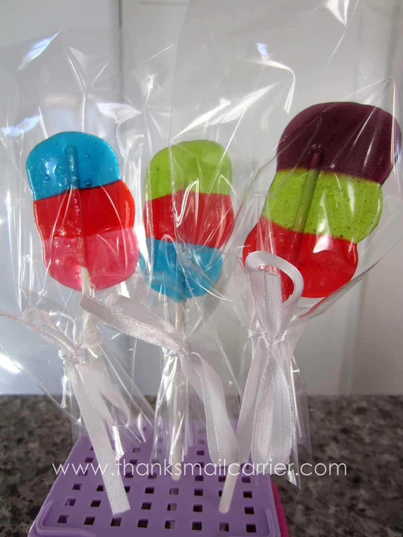 Striped Jolly Rancher lollipops