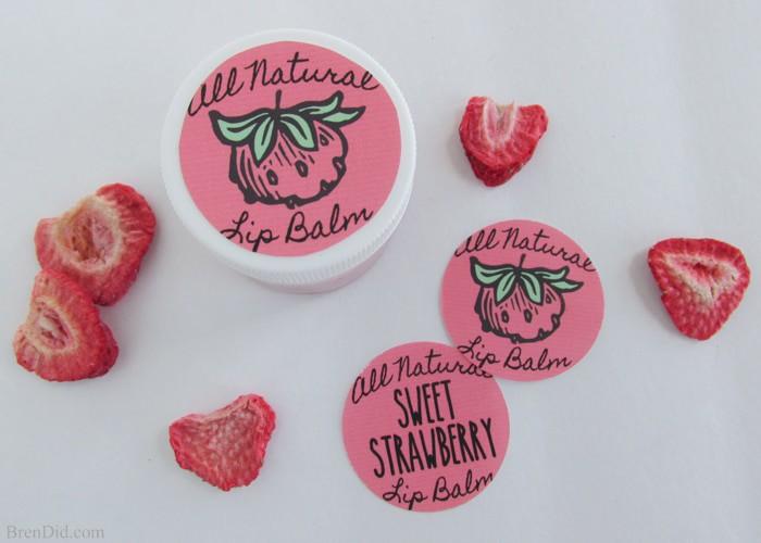 Sweet strawberry lip balm