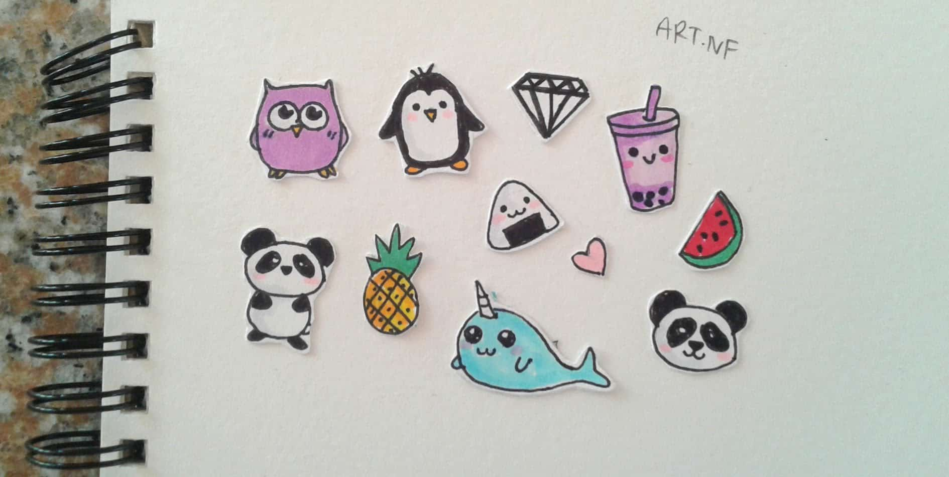 Tiny DIY kawaii stickers