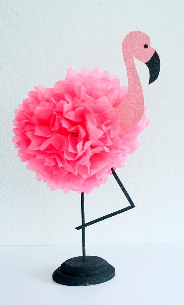 Tissue paper flamingo