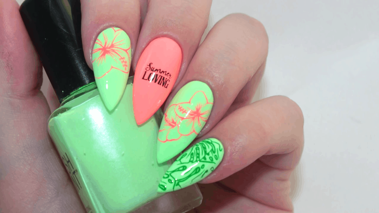 Vivid and powerful 12 diy ideas for neon nails solutioingenieria Images