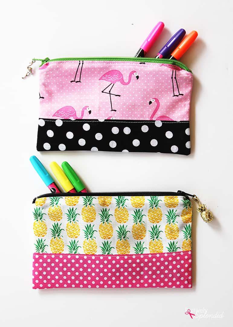 Tropical pencil pouch