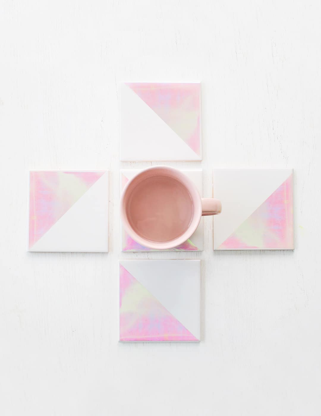 holographic tile coasters