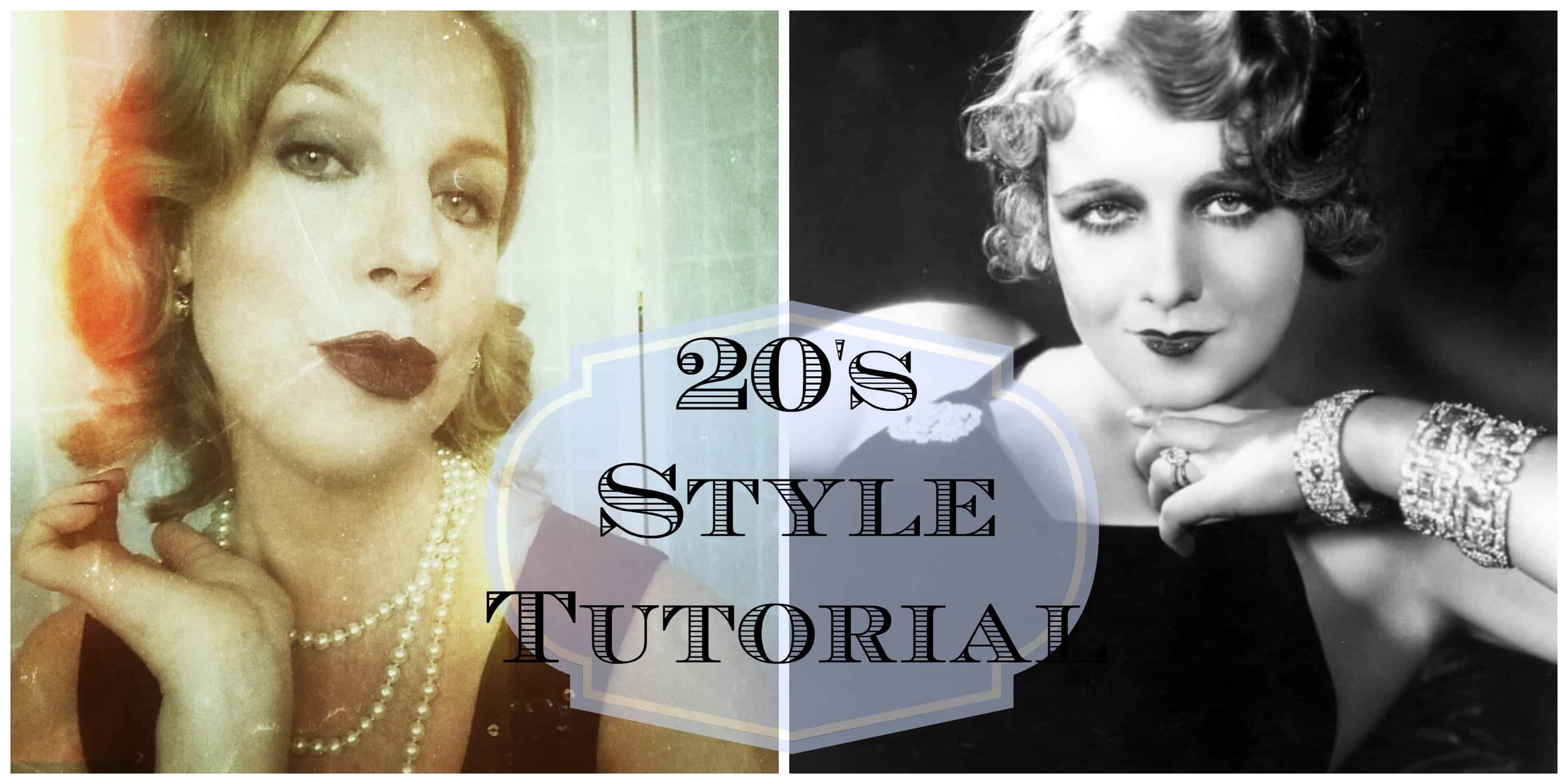 1920s style makeup tutorial