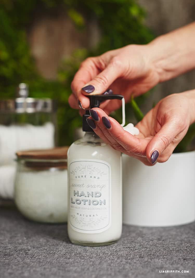 Aloe hand lotion
