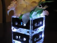 Back lit cassette tape vase 200x150 15 Inspirational DIY Projects That Celebrate Rock Music