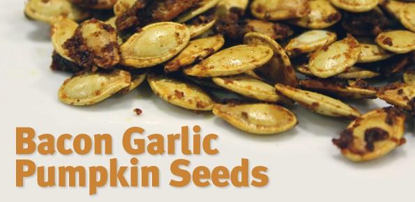 Bacon garlic pumpkin seeds