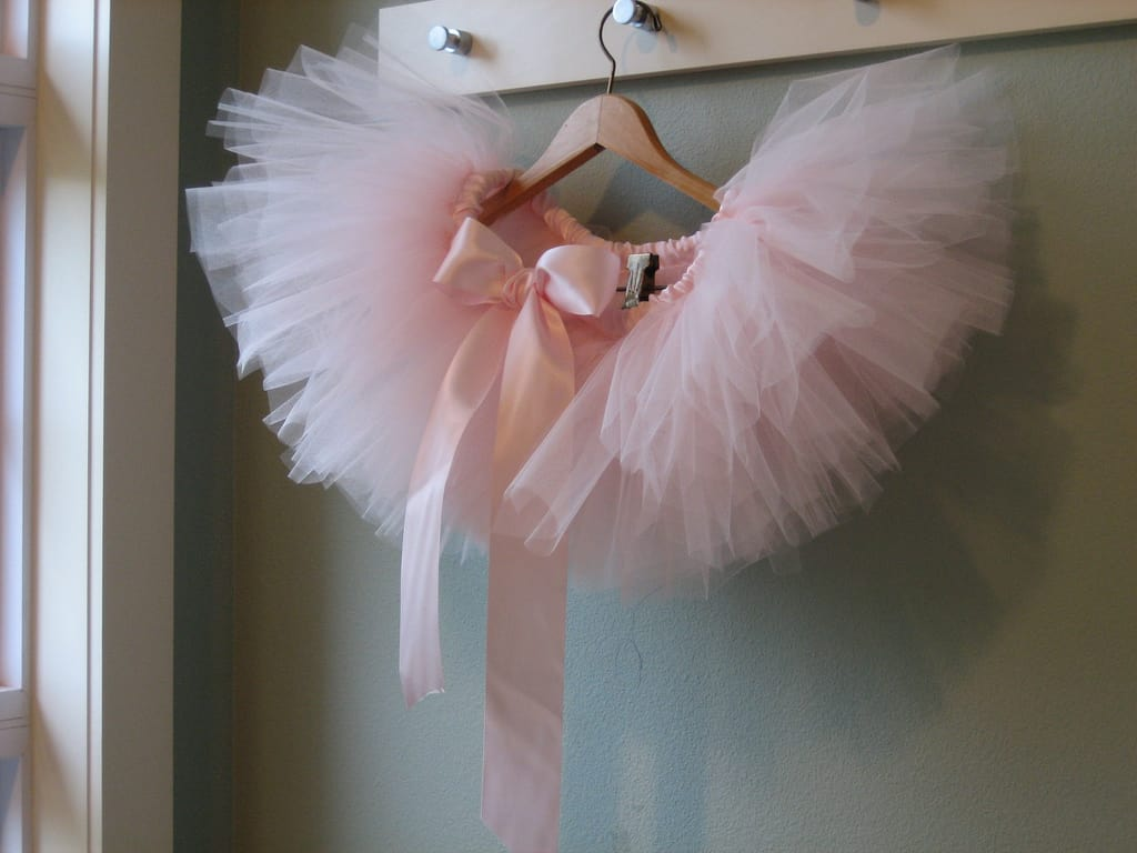 Ballet pink tutu with a silk bow