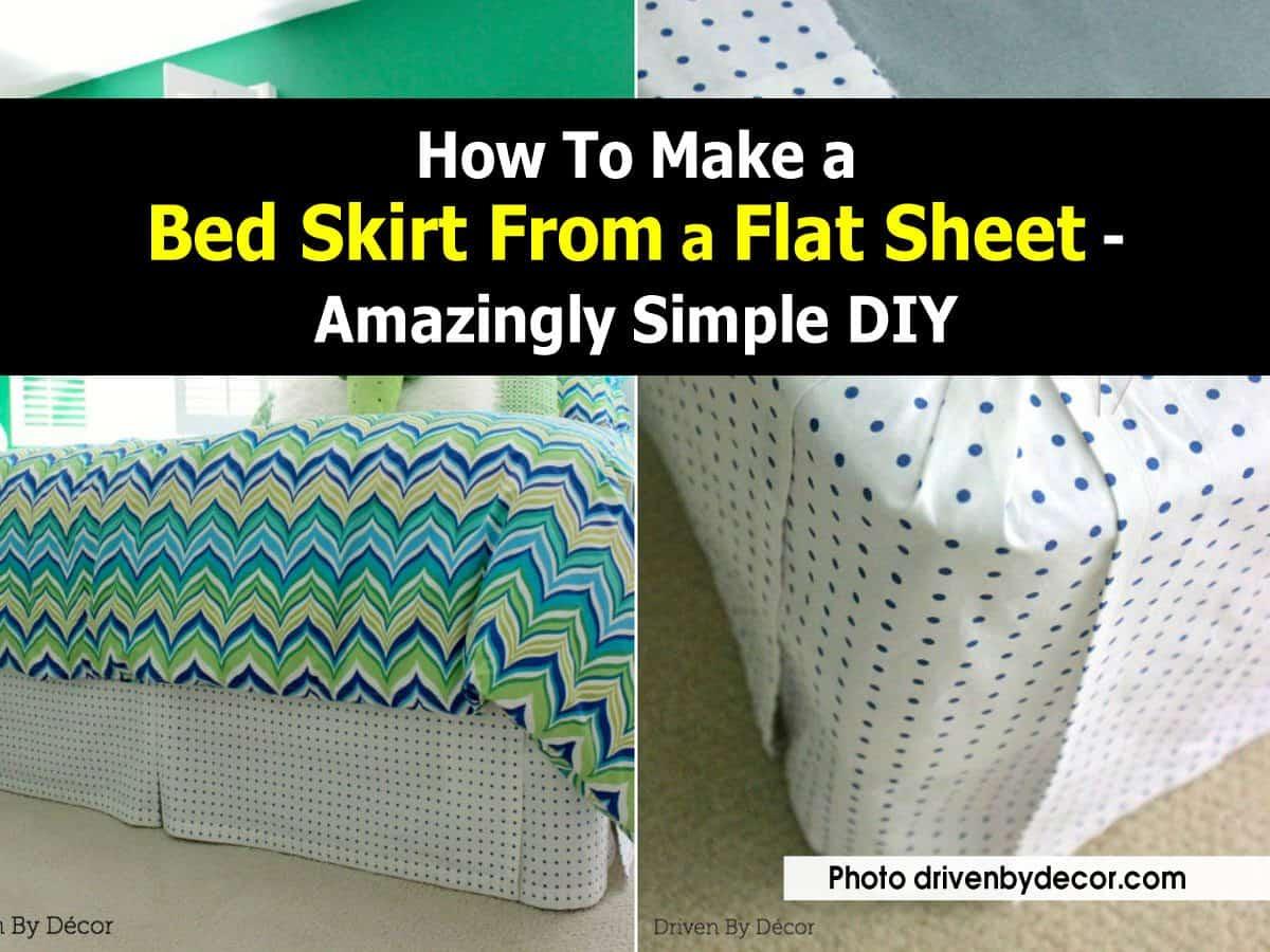 Bed skirt form a flat bed sheet