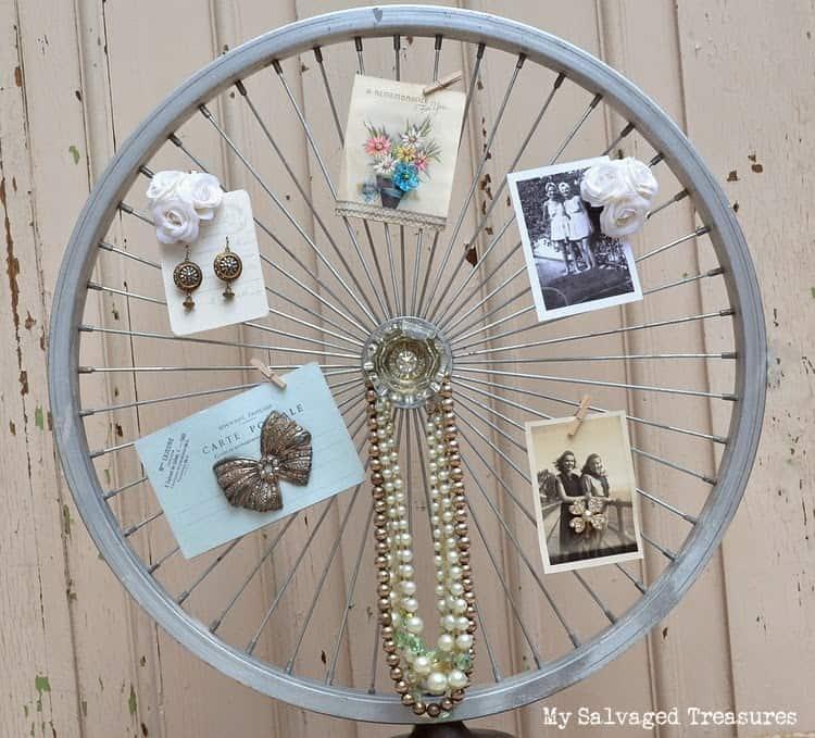 Bicycle wheel display