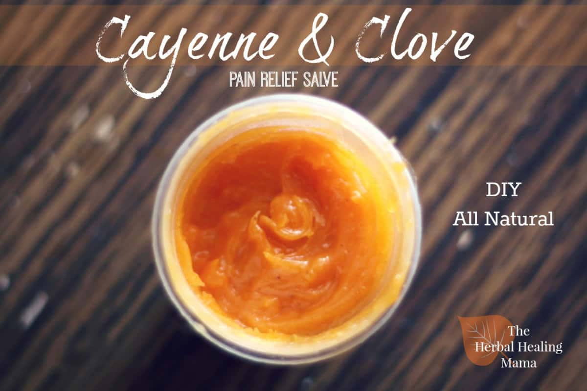 Cayenne and clove pain relief balm