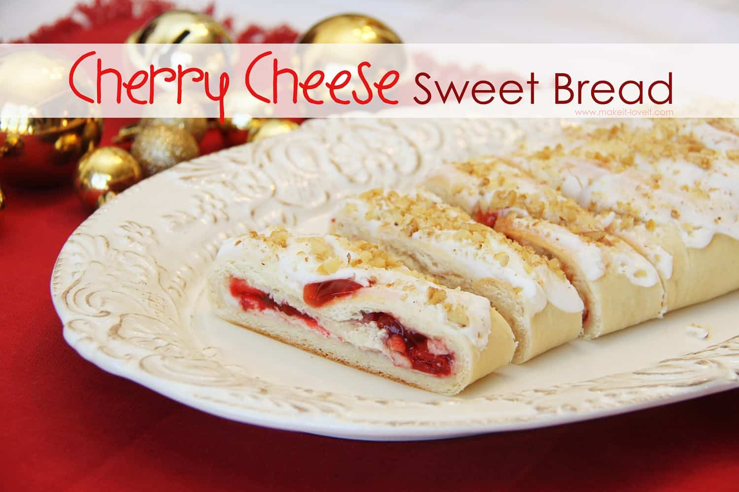 Cherry cheese sweet bread