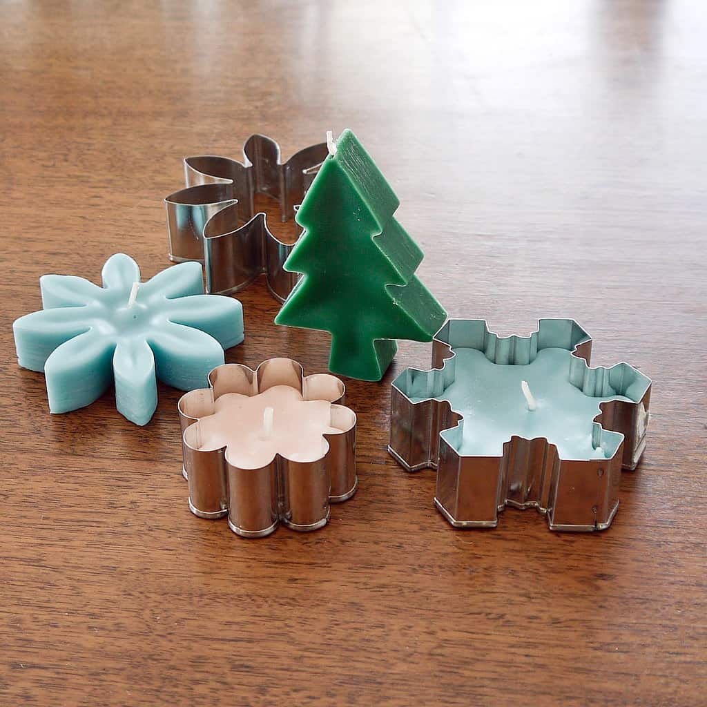 Christmas cookie cutter candles