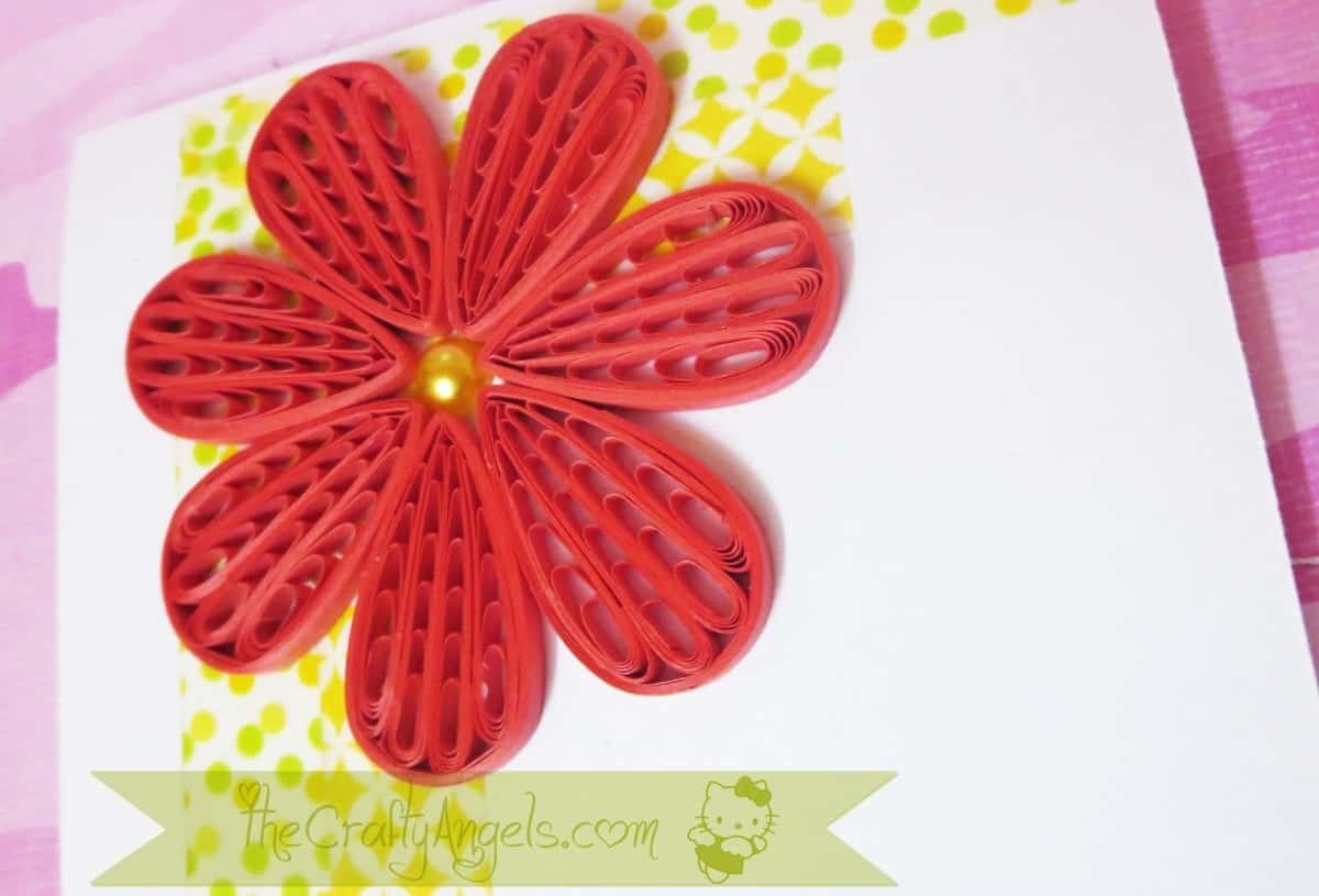 Comb flower with a pearled centre