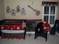 Customized rock star nursery makeover 200x150 15 Inspirational DIY Projects That Celebrate Rock Music