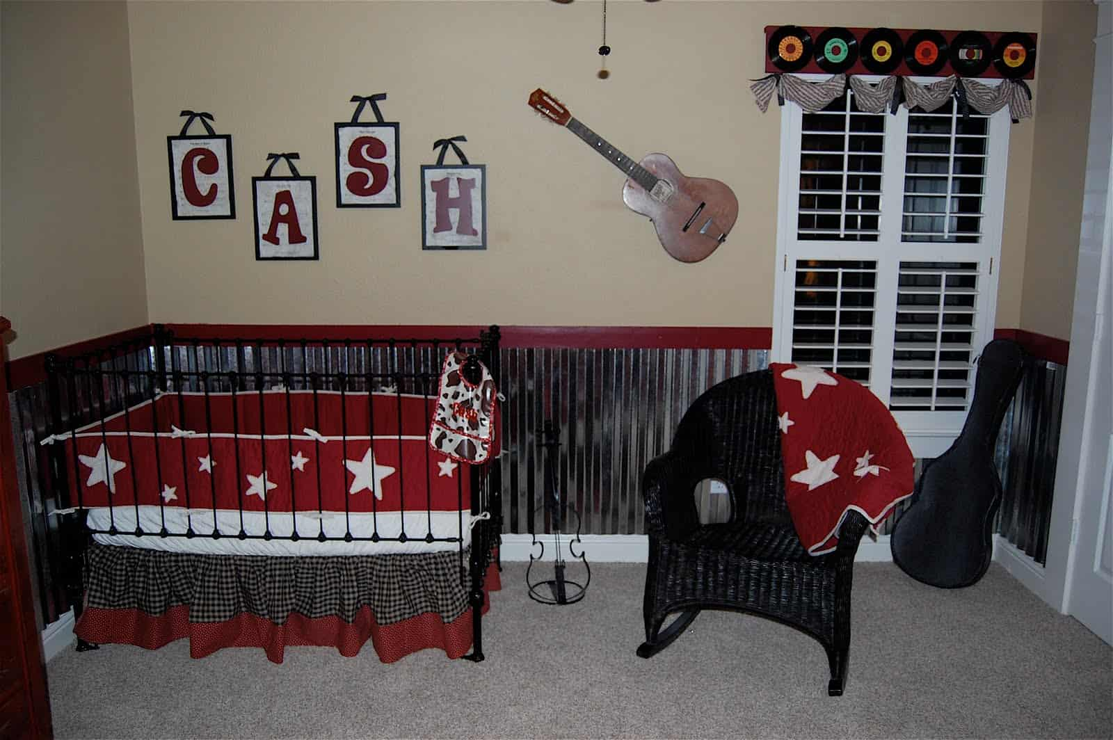 Customized rock star nursery makeover