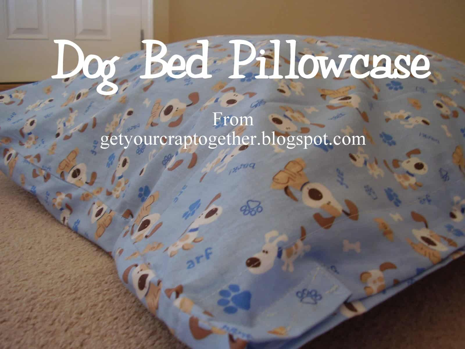 DIY dog bed pillow case from a sheet
